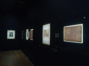 Scénographie de l'exposition : la partie sur l'Académie