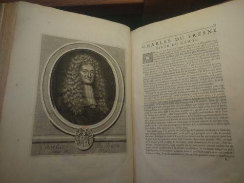 Une page des Hommes illustres, de Charles Perrault (1697)