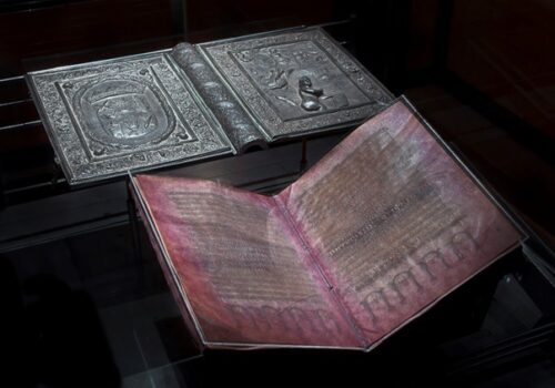 "Le Codex Argenteus (""la Bible d'argent""). Photo : Magnus Hjalmarsson."